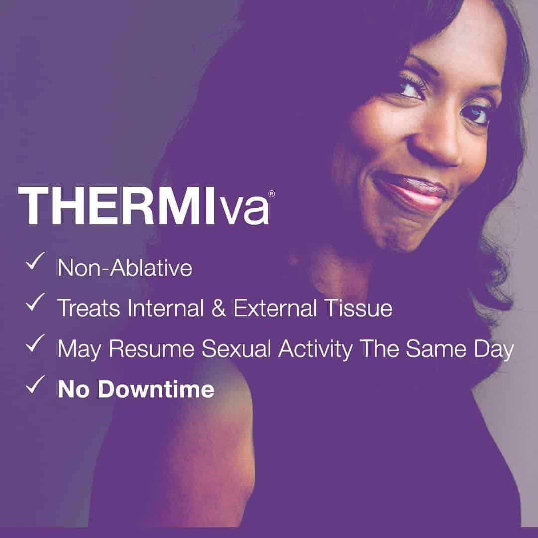 thermiva improves vaginal dryness tightness strengthens muscles at lux medspa atlanta better orgasms no more painful sex feel younger feel better