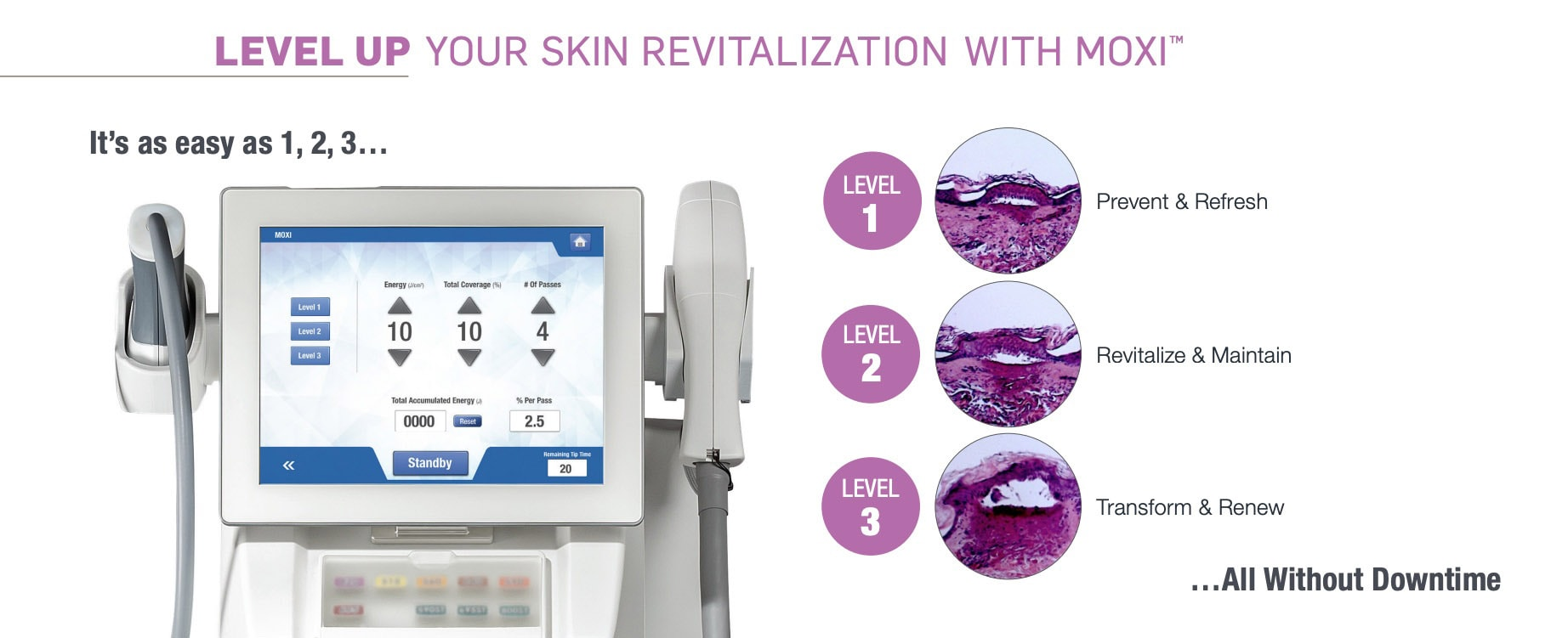 contour TRL by Sciton Nano laser peel at lux med spa at buckhead plastic surgery